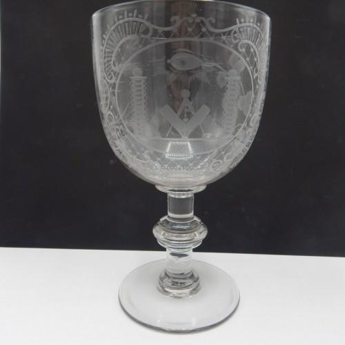 26 cm high English masonic bowl nr 36