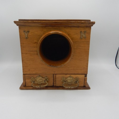 antique Engelish wood ballot box
