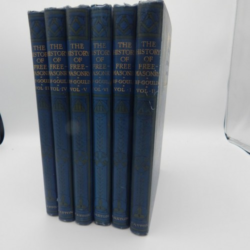 c. 1890 	Gould's history of Freemasonry 6 vol. complete