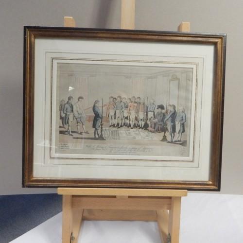 gravure 1809 inwijding van een leerling