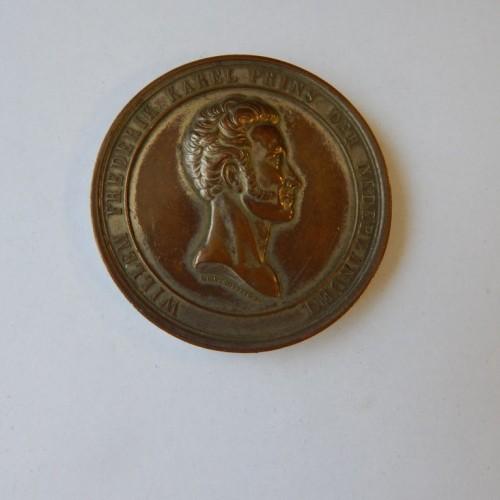 Prins Frederik 25 jaar grootmeester 1841 verzilverd