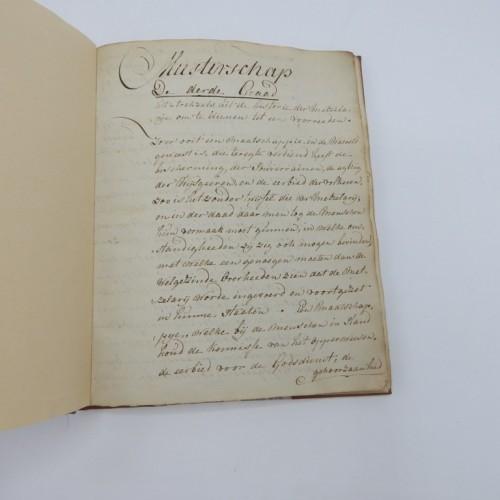 c. 1750 onbekend manuscript meester rituaal
