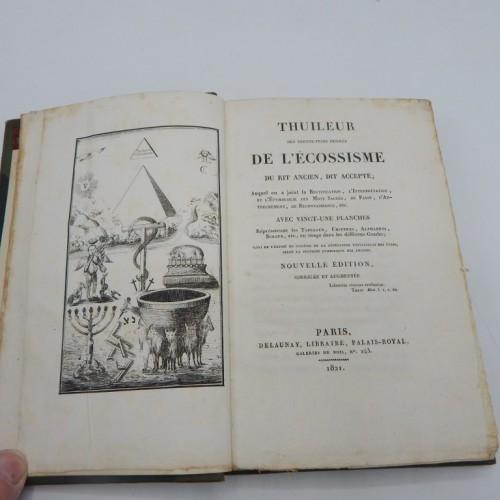 1821 Thuileur des 33 degres DE L' ECOSSISME du rit Anicien, dit Accepte
