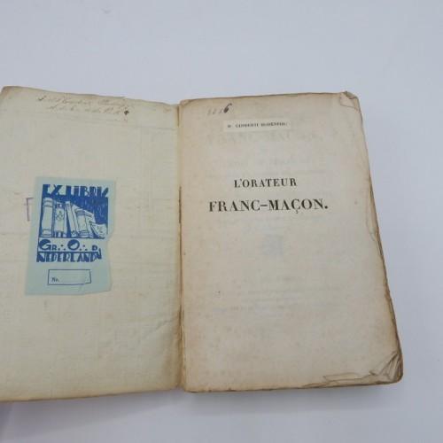 1823 L' Orateur Franc-Macon