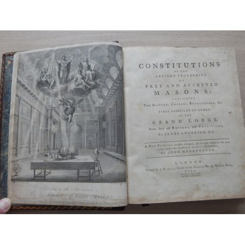 1784 Constitutions Of The Antient Fraternity Of Free And Accepted Masons