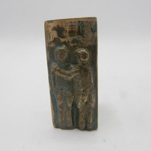 Staande Penning brons F. van der Veld