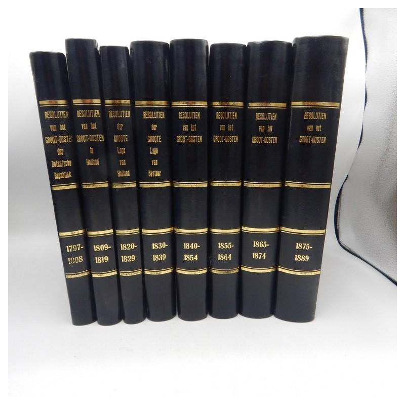originele resolutien van het grootoosten 1797-1889
