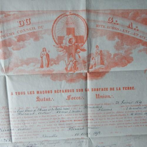 1892 Rose Croix  des Vrais Amis de L'Union et du progres Reunis