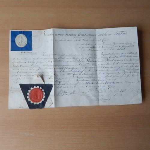 1783 Gezellendiploma militaire loge La Concord te Arnhem