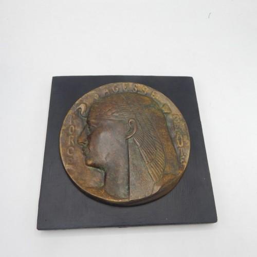 bronze plaquette ISIS c. 1900   Force-Sagesse-Beaute