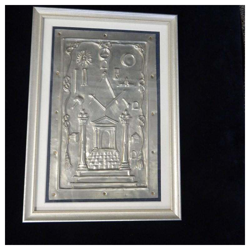 Handgemaakt maconniek Tableau van Tin