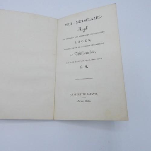 1830 vrij-metselaars regel stricte observantie