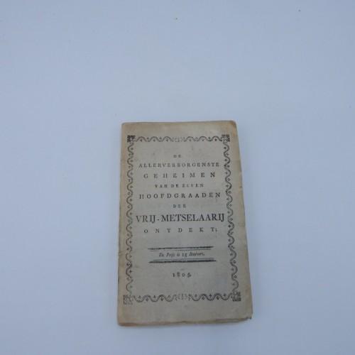 1805 De allerverborgenste geheimen van de zeven hoofdgraden der vrij-metselarij