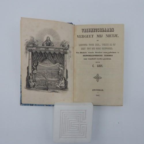1847 vrijmetselaars vergeet mij nietjes + Acasiatakjes 2 boekjes