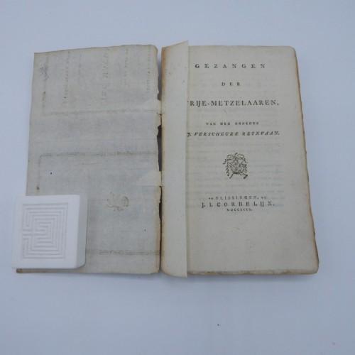 1799 gezangen der vrije-metzelaaren  L'Astre de L Orient te Vlissingen