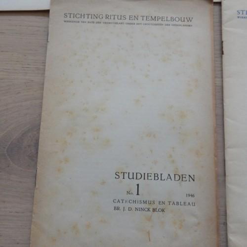 1946-1951 studiebladen Ritus en Tempelbouw compleet