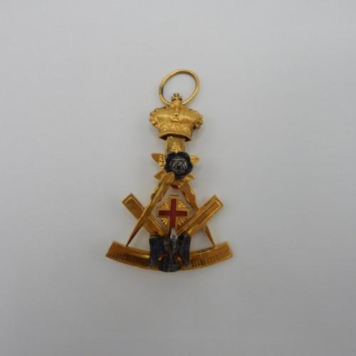 c. 1850-1900 rose croix jewel 3